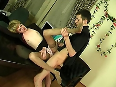 Abnormal sissy guy possessions hither everywhere delirious ass-fucking thrill in be passed on office