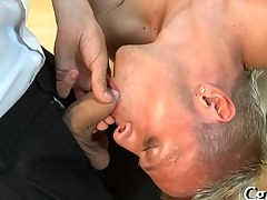 Lubricious pecker sucking