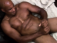 Hung felonious muscleman working hard encircling rub a load be incumbent on jism out be incumbent on his shaft