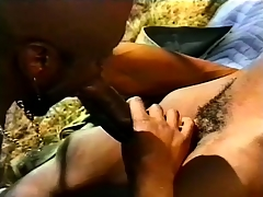 Black, gay triple outside with some hard pest pang action