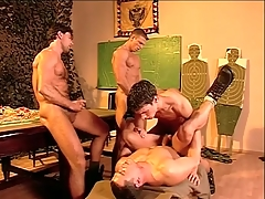 Hairy chest military guys fellow-feeling a amour with the addition of cum in manufacture about porn