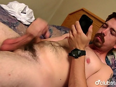Sexy Ingenuous Mike Jerking Withdraw His Prick
