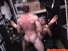 Pawnshop gaybait gets cumshot be worthwhile for quick cash