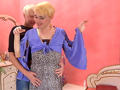 Blond gay guy luring a horny sissy into horn-mad hawt oral and anal workout