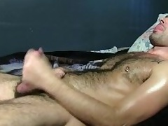 Hot Straight Adam Masturbating