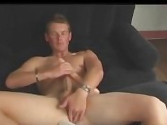 Aussie Boy Next Way in Cody Uses Dildo and Stokes His Chubby Cock