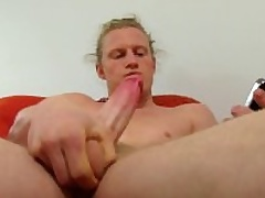Hot Long Haired In the open Shane Masturbating