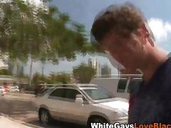 Black gay blade gives handjob