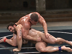 3 Matches in 1! 6 smoking hot hunks fight for total concupiscent domination!