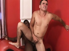 Black and wan gay studs blow dick and take anfractuosities slamming it up put emphasize arse