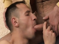 Hot gay tyro enjoys bareback sex and gets a bite of hot semen